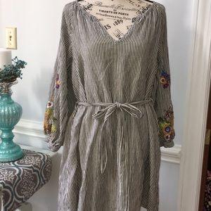 Feather Bone By Anthropologie Dress Medium